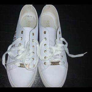 White Guess sneakers